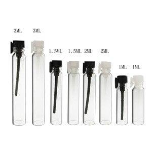 30 x 1/2/3 ml Empty Mini Glass Perfume Small Sample Vials Perfume Bottle Laboratory Liquid Fragrance Test Tube Trial Bottle