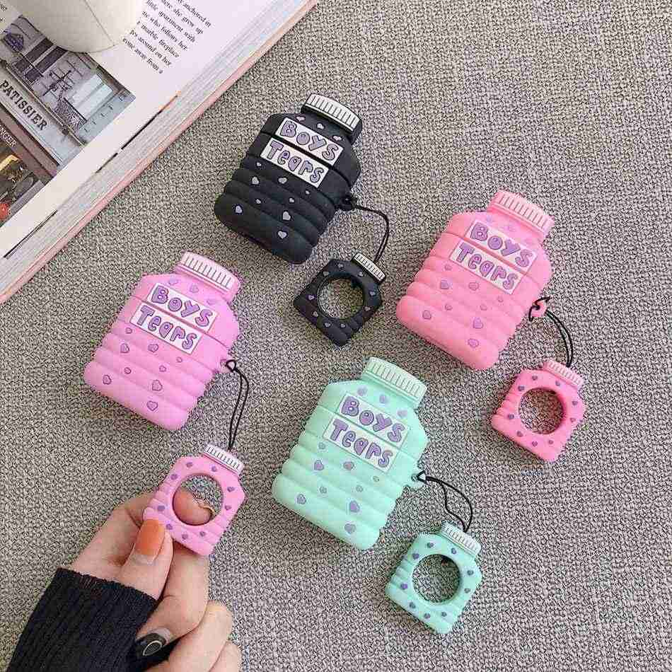 3d Silicone Earphone Case For Airpods 2 Case Cute Color Boys Tears