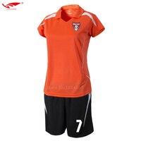 ผู้หญิงเสื้อฟุตบอลแขนสั้นs urvetement 2017ฟุตบอลชุดที่กำหนดเองชุดฟุตบอลวอล