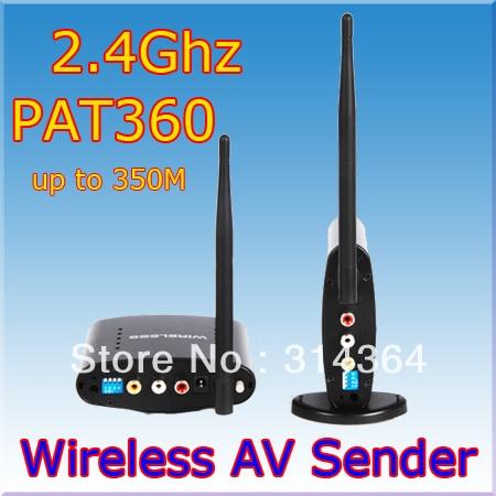 AV Sender Wireless Transmitter Receiver 350m,av sender and receiver,2.4ghz wireless av sender,Free Express Shipping receiver