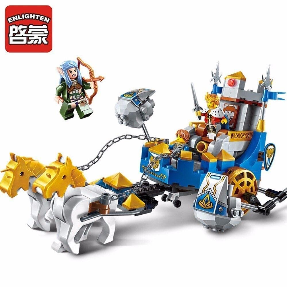 Enlighten Children kids Toys Gifts Castle Blocks For Building Weapon Compatible Educational Fun assembling granule Blocks