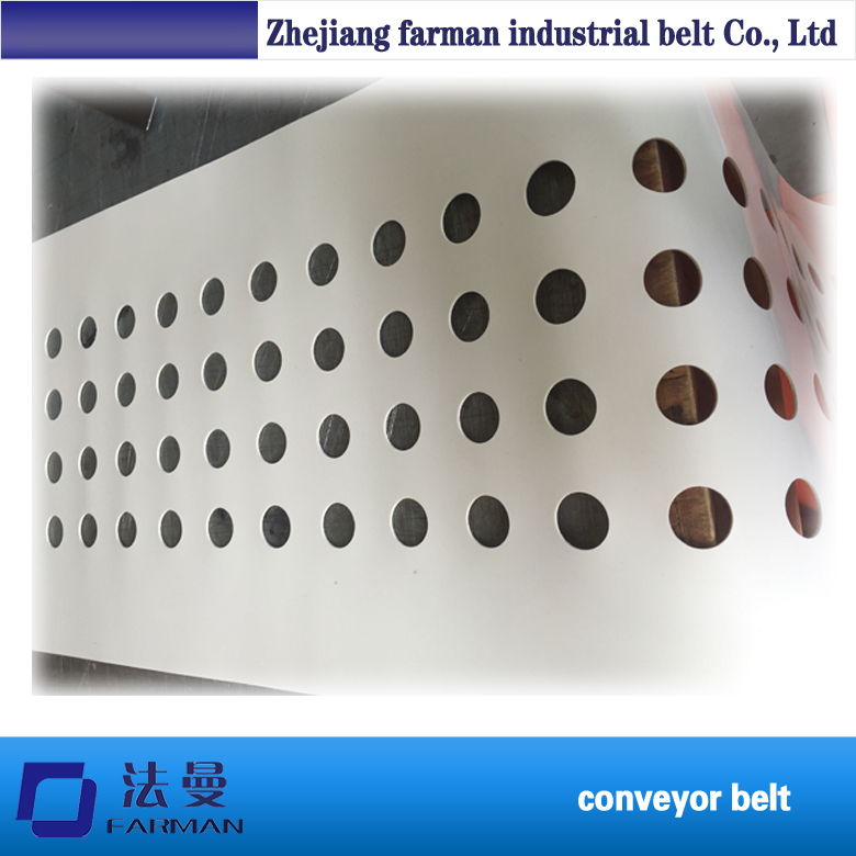 White PVC Conveyor Belt with Punching Hole 500mm width 1000mm middle drive compact belt conveyor factory supply conveyor 30kg pvc pu belt constant or variable speed