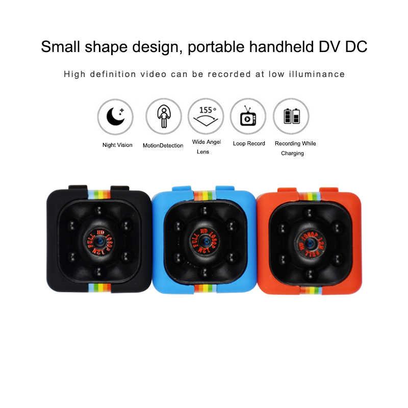 SQ11 كاميرا صغيرة 1080p أمن الوطن الأشعة تحت الحمراء للرؤية الليلية شاشة كاميرا فيديو مخفية