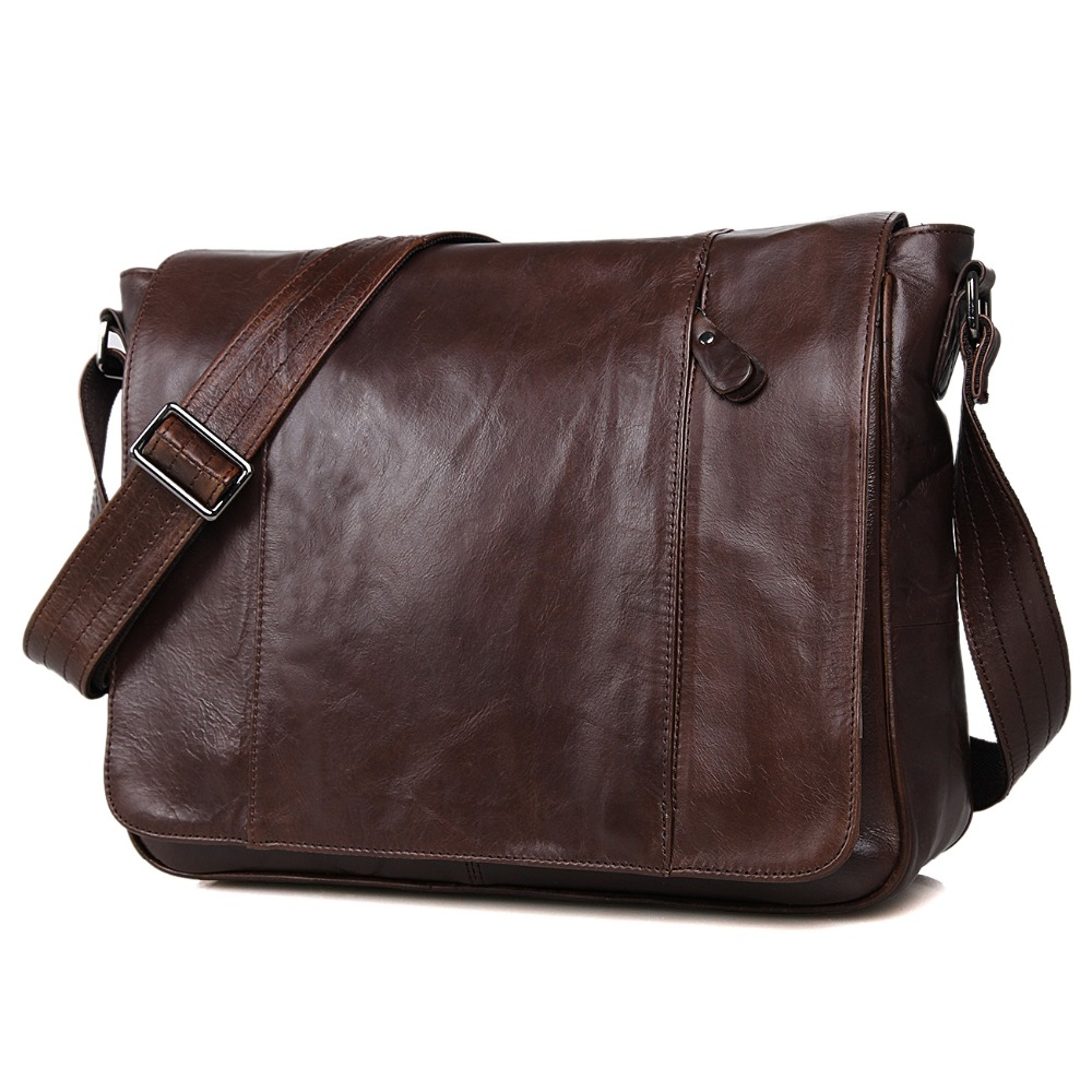 JMD Tanned Leather Men's Messenger Bag Shoulder Bags Sling Bag For Young 7338