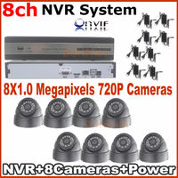 Promotion 8CH NVR Kits Plug And Play Ip Camera Wired NVR Kit Security Camera System 8CH