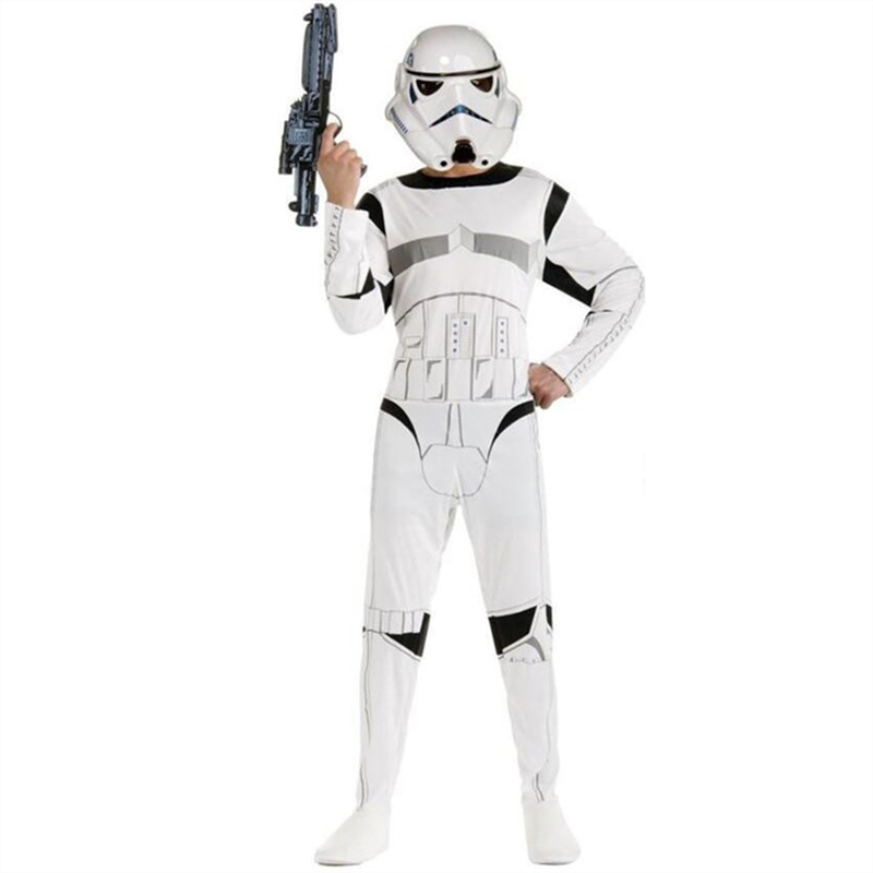 Classic Child Boy Kids Star Wars The Force Awakens Storm Troopers Cosplay Fancy Dress Kids Halloween Carnival Party Costume