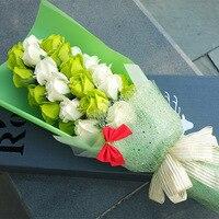 バレンタインの日ギフト石鹸石鹸の花バラ花束花韓国高-グレードバレンタインボックス花束