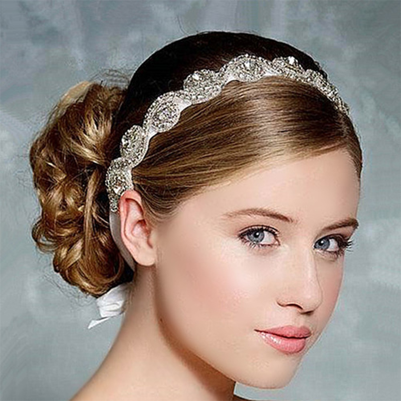 Wedding Hairstyles With Hair Jewelry: Wedding Headband Hair Band Headband Wedding Bridal Hair