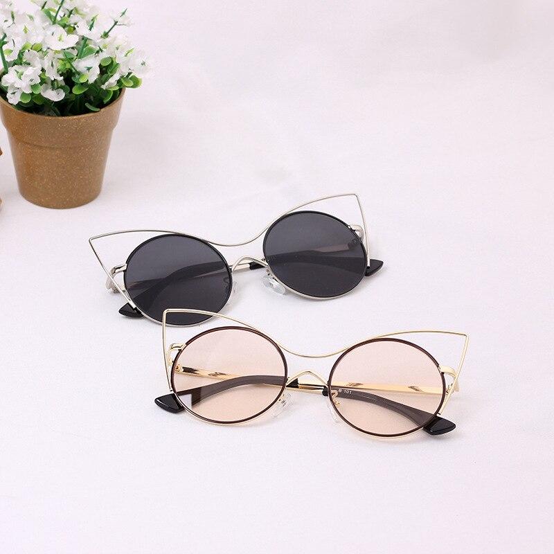 2018 Sommer Neue Angekommene Metallrahmen Cat Eye Kinder Sonnenbrille Reflektierende Linse Vintage Kind Jungen & Mädchen Gläser Gold Bein N82 Ausgereifte Technologien