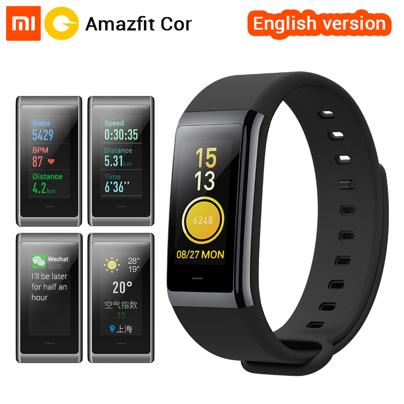 Xiaomi Huami Smart Wristband Amazfit Cor MiDong Color IPS Screen Heart Rate Monitor Fitness Tracker Waterproof 50m