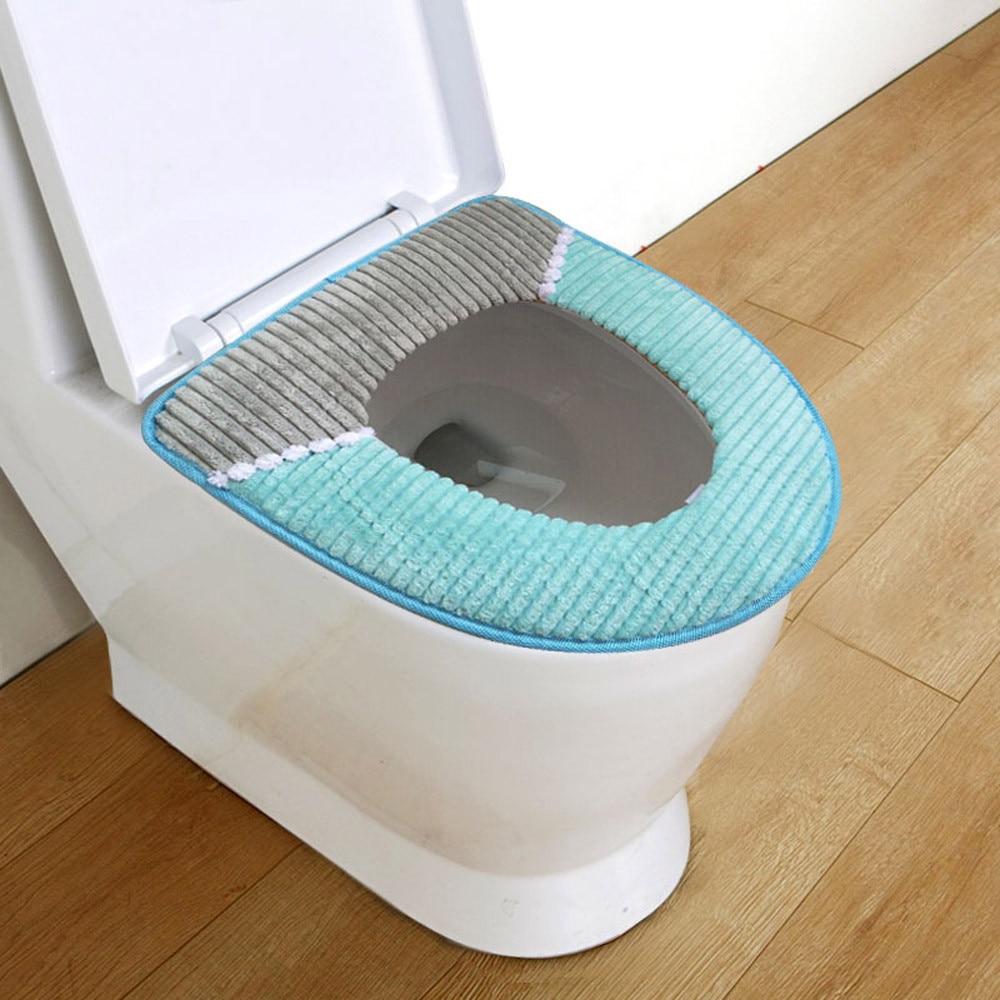 Toilet Cover Seat Lid Pad Bathroom Protector Closestool Soft Warmer ...