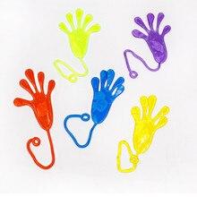 10 шт. детские забавные липкие руки игрушка ладонь эластичная липкая мягкая игрушка с ладошкой новинка подарок партия поддерживает поставки