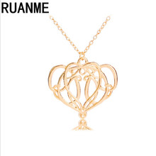 Attractive men sweater fashion jewellery pendant popular hot zinc alloy heart-shaped necklace jewelry accessories