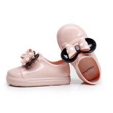 Детская обувь однотонные резиновые сапоги обувь для девочек Сабо качественные водонепроницаемые противоскользящие дождевые туфли для малышей
