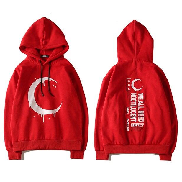 b566f0a6 Japan Harajuku Moon Hoodie Men Red Sweatshirt Black Pullover Hoodie Cotton  Woman High Street Brand Clothing 2018 Spring Autumn-in Hoodies & Sweatshirts  from ...