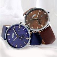 Fashion Luxury Brand Male Watches Men Classic Leather Strap Quartz Waterproof Wristwatch