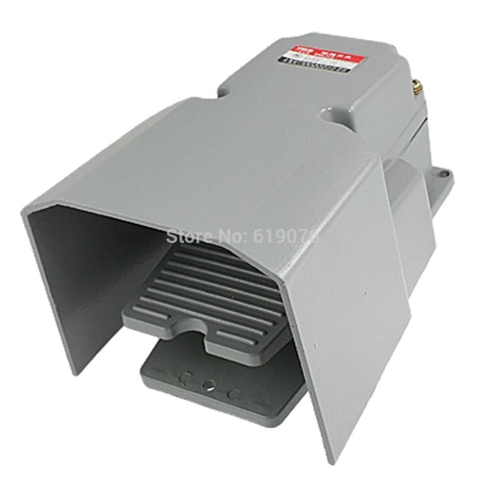Nosnlip métal momentané industriel interrupteur à pédale AC 250 V 10A w garde