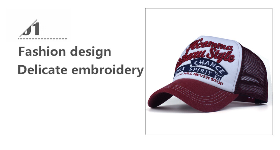 Topdudes.com - Innovation will Never Stop Embroidery Summer Casual Snapback Hat