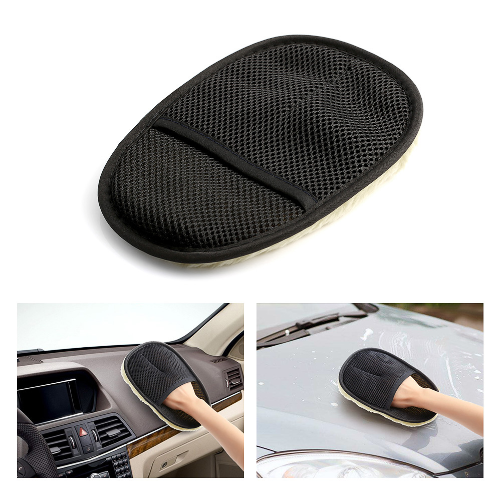 Car Washing Gloves Car Motorcycle Artificial Wool Soft Washer Brush Car Care Cleaning Tools Brushes Auto Accessories