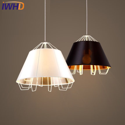 IWHD Iron Hanglamp Modern Pendant Lights Home Lighting Fixtures Fashion Cloth Hanging Lamp Dining Room kitchen Luminaire Lustre iwhd led pendant lights modern fashion iron suspension luminaire black dining roon handing lamp kitchen lighting fixtures lustre