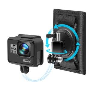Image 2 - Mise à jour Sport caméra sac à dos pince montage 360 degrés rotatif pour Xiaomi Yi pour Gopro Hero 8 7 6 5 4 Action caméra accessoires