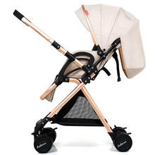 High Landscape Lightweight Strollers Folding Portable Traveling Pram Yoya Plus 3 Stroller Baby Carriage Pushchair Pink Stroller