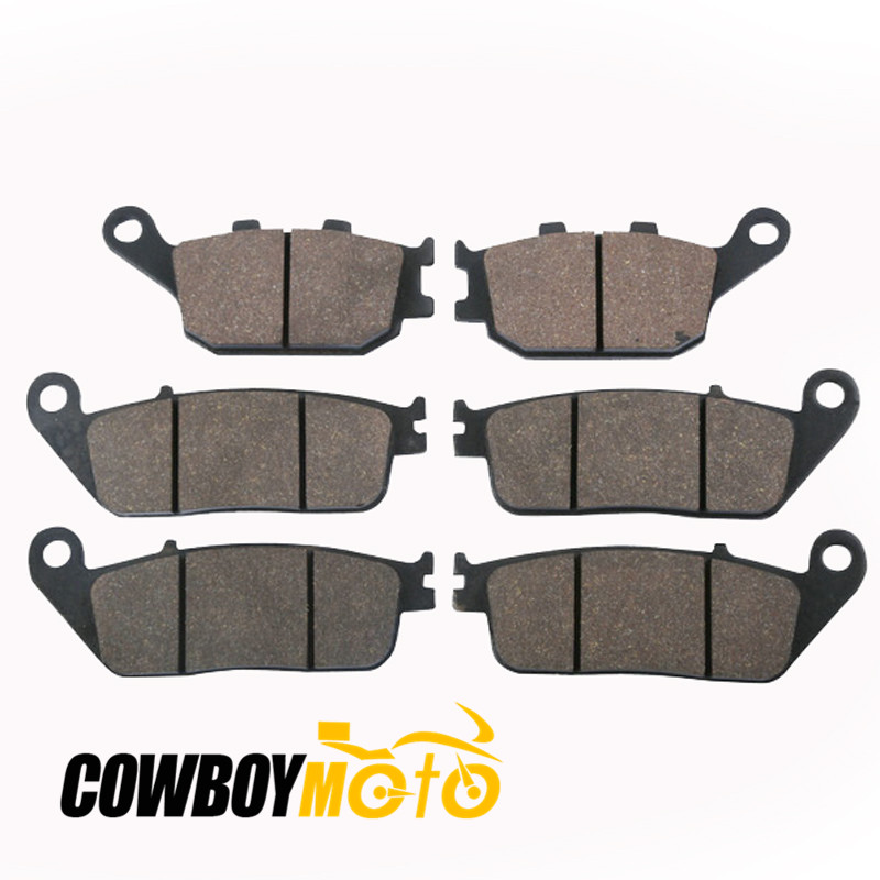 Motorcycle Sintered Semi-Metallic Front Rear Brake Pads For HONDA CB 600 CB600 HORNET 1998 - 1999 motoo motorcycle front and rear brake pads for honda cb600f hornet 1998 2006