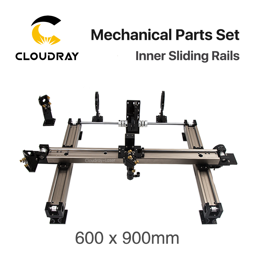 цена на Cloudray Mechanical Parts Set 600*900mm Inner Sliding Rails Kits Spare Parts for DIY 6090 CO2 Laser Engraving Cutting Machine