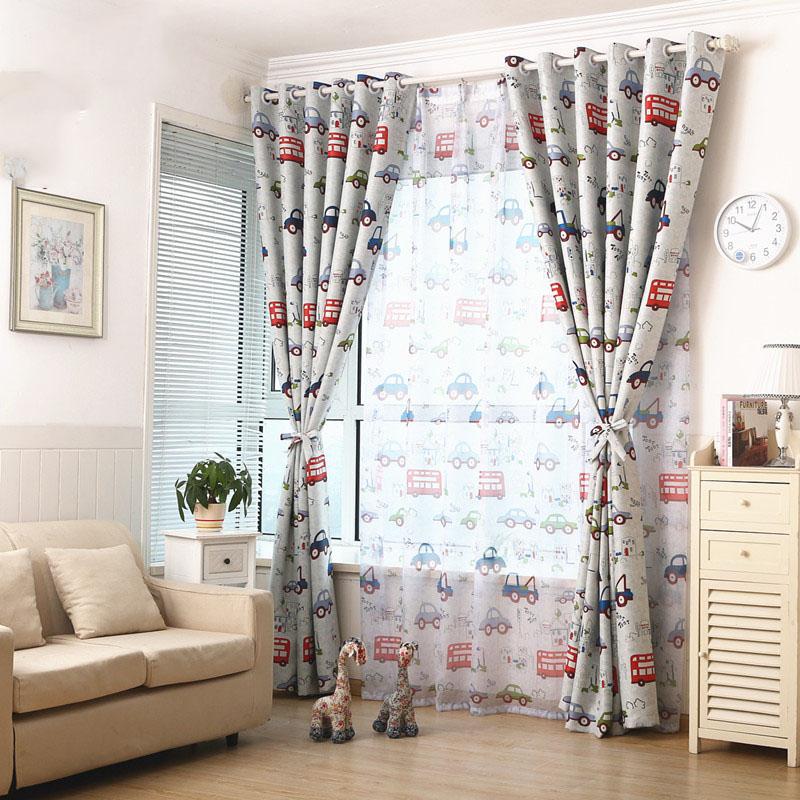 ojal cortinas cortinas decorativas coche de dibujos animados para nios habitacin del beb nios cortinas