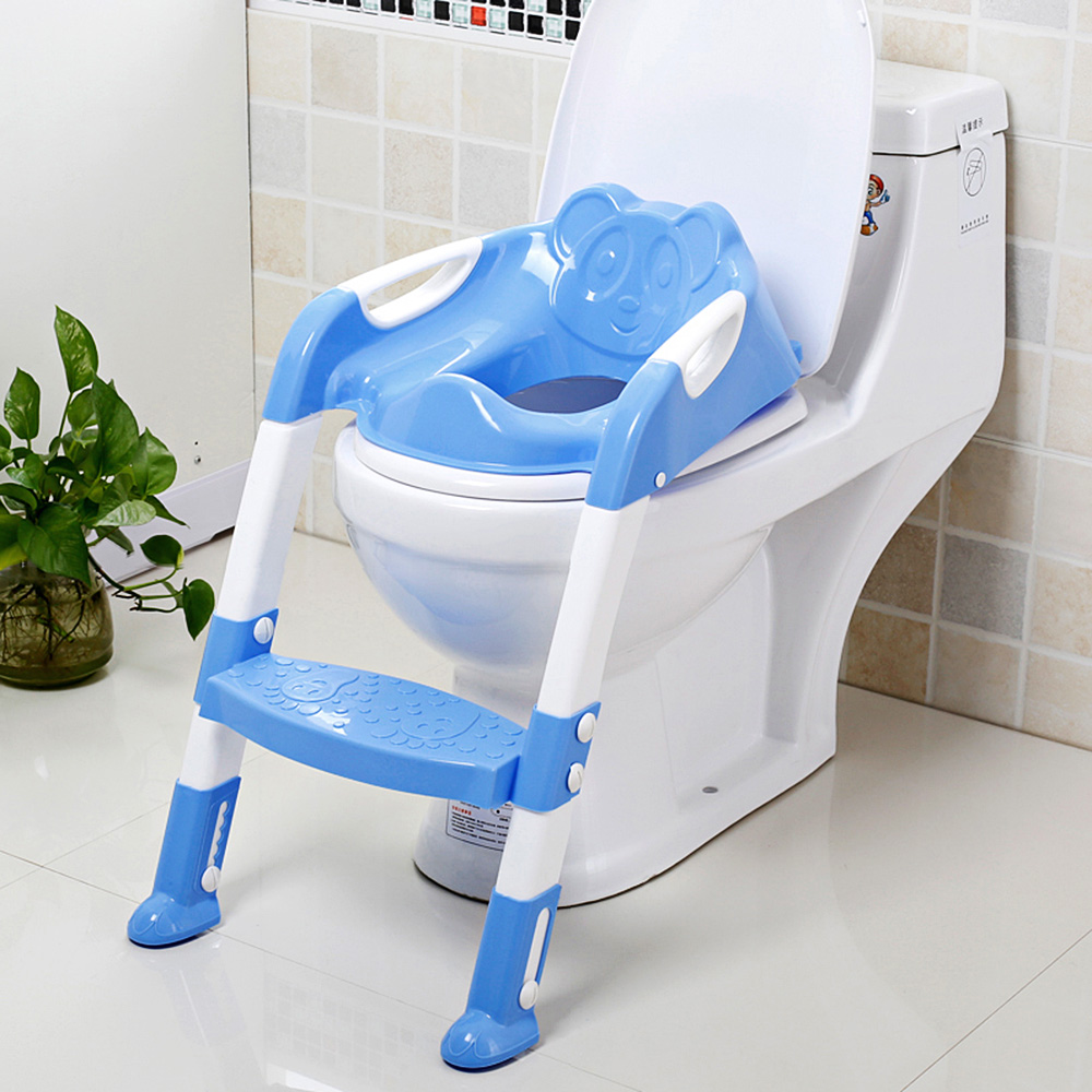 Folding Baby Potty Training Toilet Chair With Adjustable Ladder Children Kids Boys Girls Potty Seat Anti-slip pedals Toilets boys potty time