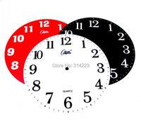 الاكريليك الطلب الفردية الإبداعية حركة أجزاء اكسسوارات diy ساعة الحائط الإبداعية diy ساعة رقمية وجه 25 سنتيمتر