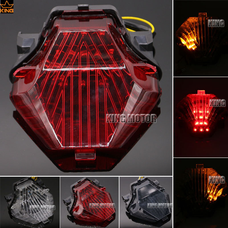 For YAMAHA MT-07 FZ-07 MT07 FZ07 2014-2016 Motorcycle Accessories Integrated LED Tail Light Turn signal Blinker Lamp Red for yamaha fz 09 mt 09 fj 09 mt09 tracer 2014 2016 motorcycle integrated led tail light brake turn signal blinker lamp smoke