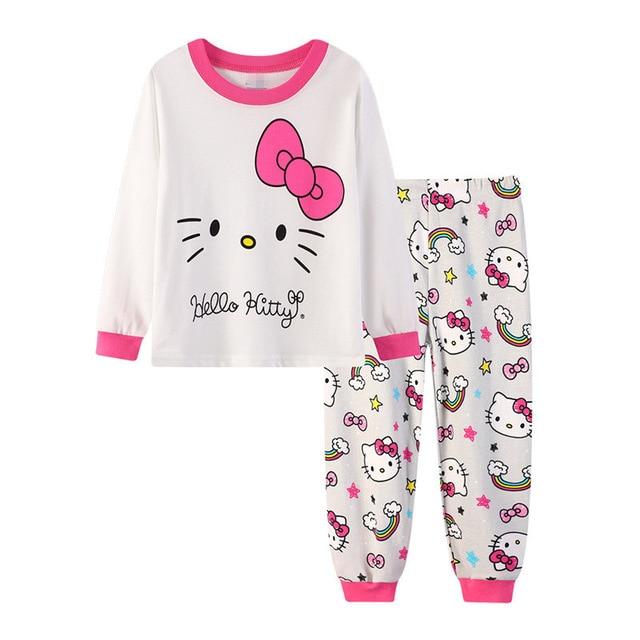 df2ea247ca 2-7 years old Girls kid pajama winter 2019 Children s pajamas sets home  leisure girl