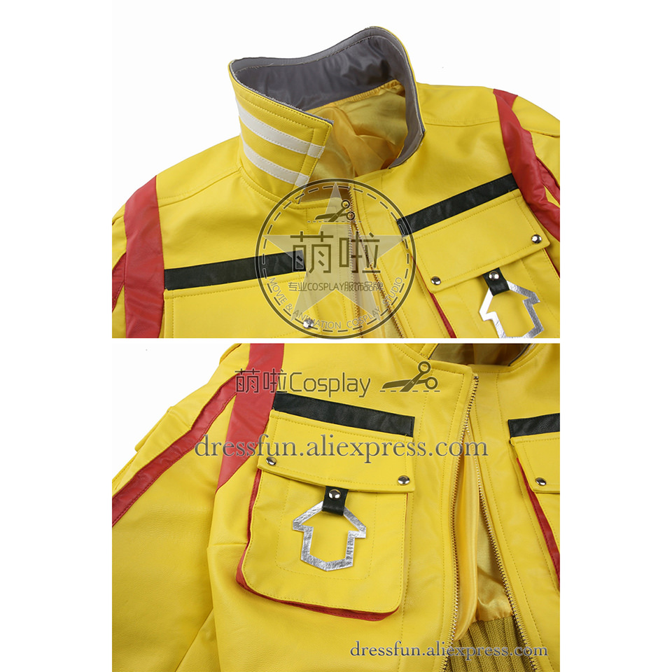Finale fantaisie XV Cosplay Costume Cindy Aurum Costume jaune veste jeu uniforme tenues décontractées ensemble complet fête Halloween Shorts - 5