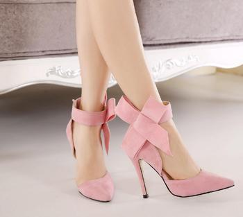 Crystal Queen Ankle Strap Heels Women Sandals Summer Shoes Women Bowknot Thin High Heels Party Dress Sandals Pumps Wedding Shoes