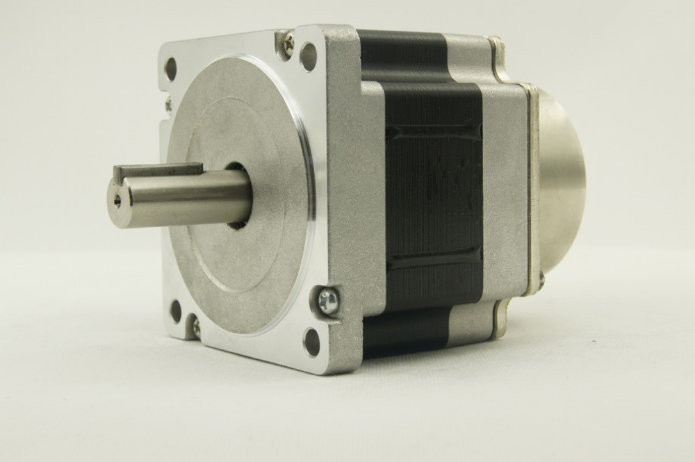 цена на NEMA34 size 86mm Stepper motors with brake J86HB65-04(DC24V) motor length 65mm torque 3.3N.m(472oz-in)