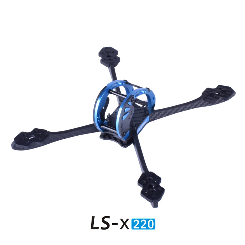 1PC LS-X220 RC Racing FPV Frame Carbon Fiber Aluminum Alloy Rack Anti-falling for RC Drone DIY FPV Quadcopter Spare Parts1PC LS-X220 RC Racing FPV Frame Carbon Fiber Aluminum Alloy Rack Anti-falling for RC Drone DIY FPV Quadcopter Spare Parts