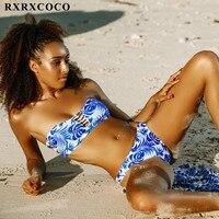 MOOSKINI Hot Sexy Bikini Set Print Swimwear Women Beach Bathing Suit Push Up Bandage Bikini Maillot