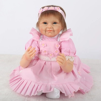 22 55cm Full Silicone Reborn Girl Baby Dolls Newborn Princess Toddler Babies Doll  Bathe Toy Girl Bonecas Play House Toy bix a1009 life size vertebral column spine with pelvis model