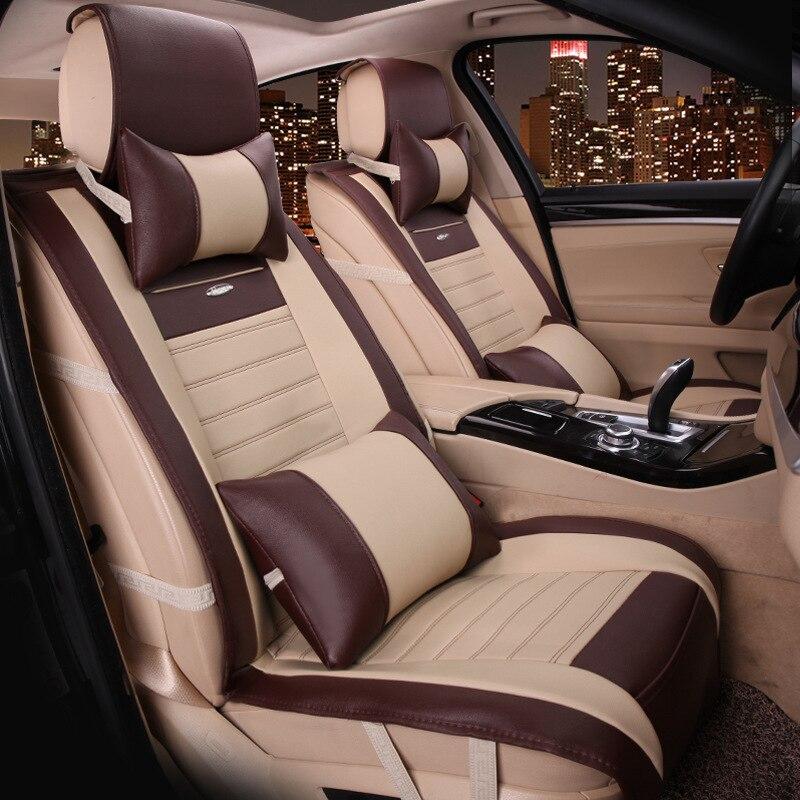 Siège de voiture plein cuir grand siège coussin nouvelle voiture siège housse coussin fabricants en gros quatre saisons - 4