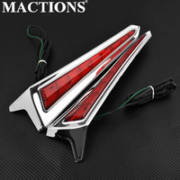 Motorcycle Frame Side LED Saddlebag Extensions Decoration Strips For Victory Cross Country Tour 2010 2018 Hard Ball Models 12 13