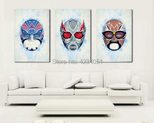 Marvel Comics DC Super Hero Picture Canvas Wall Art Oil Painting Mask Home Decor Decoration Printing No Frame