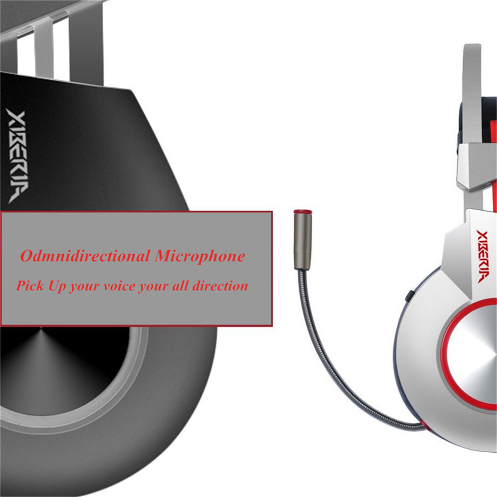 US $29 57 30% OFF|XIBERIA K5 Gaming Headset Gamer Computer Stereo USB  Headphones with Surround Sound Flexible Microphone Mic fone de ouvido-in