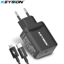 KEYSION 18W USB-C PD Fast Charger for iPhone X 8 Plus Type-C Travel Wall Quick QC 3.0 Charging