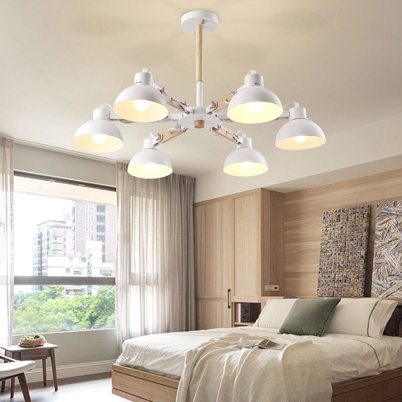 tienda online creativo nordic metal madera luces de techo para la sala de estar dormitorio luminarias para sala de estilo americano lmpara de techo para