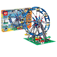 Lepin 15033 1170Pcs Building Classic Series The Three-in-One Electric Ferris Wheel Set Building Blocks Bricks Toy Model 10247 lepin 15012 2478pcs city series expert ferris wheel model building kits blocks bricks lepins toy gift clone 10247