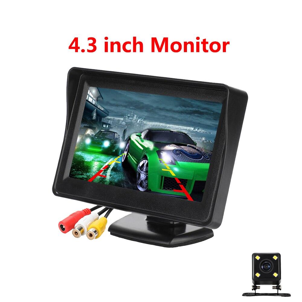 4.3 cal Monitor samochodowy z widokiem z tyłu kamera Auto Parking Backup Monitor cofania HD 800*480 tft lcd ekran z widok z tyłu aparatu