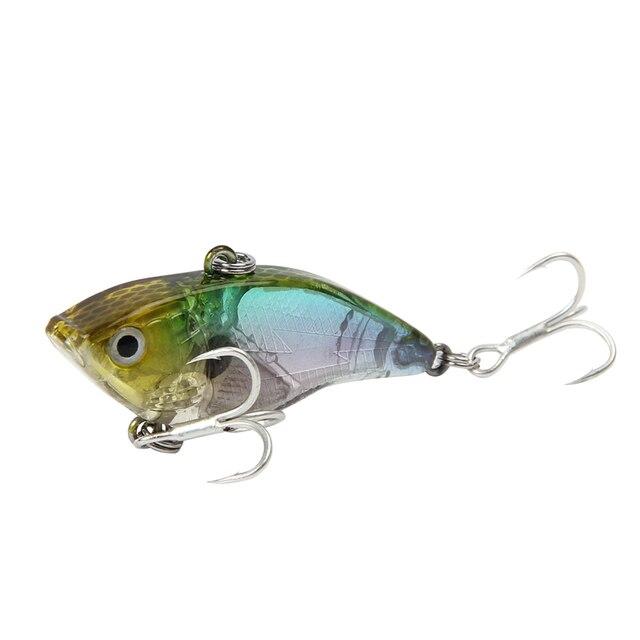 1PCS 5cm 14.5g 6# hooks Spoon Bait Boat Fishing Jigs  wobblers metal hard sequin VIB bass peche trout fishing baits pesca