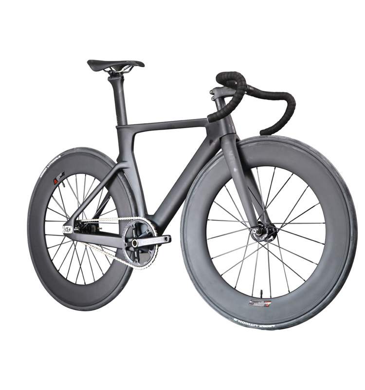 2016 ICAN Professional Carbon Track Complete Bike UD Matte Track Fork Single Speed Carbon Bicycle Fix Gear Bike