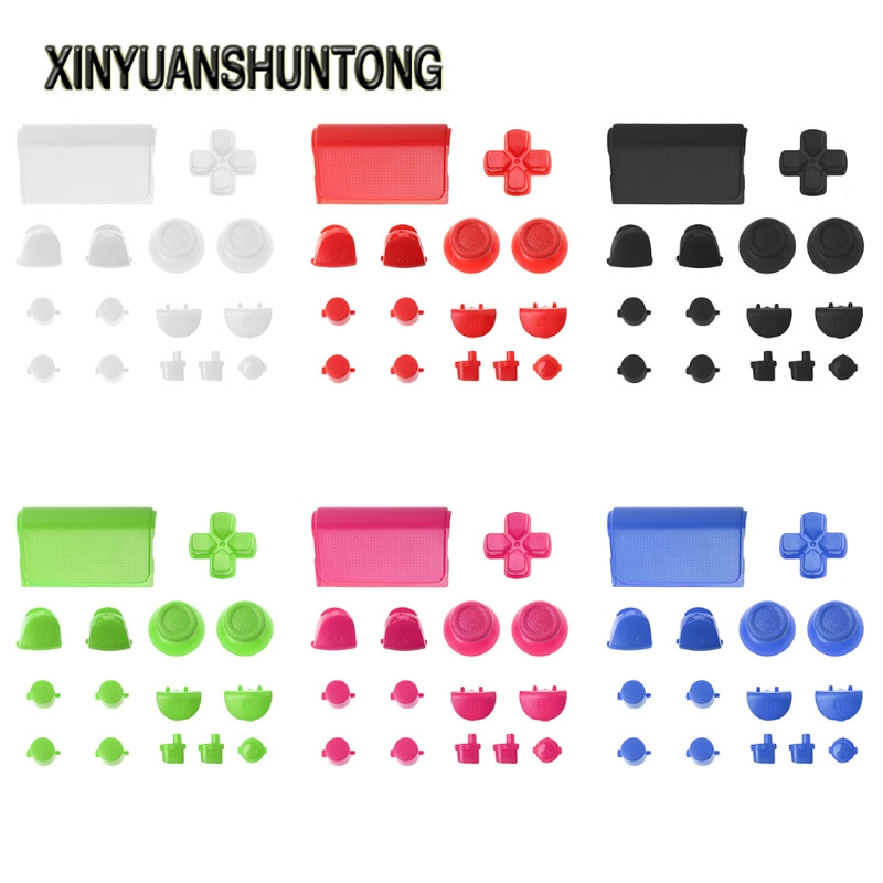 XINYUANSHUNTONG Game Accessory 15Pcs/Set Full R1L1R2L2 Trigger Button Battery Cover Replace For PS4 Controller